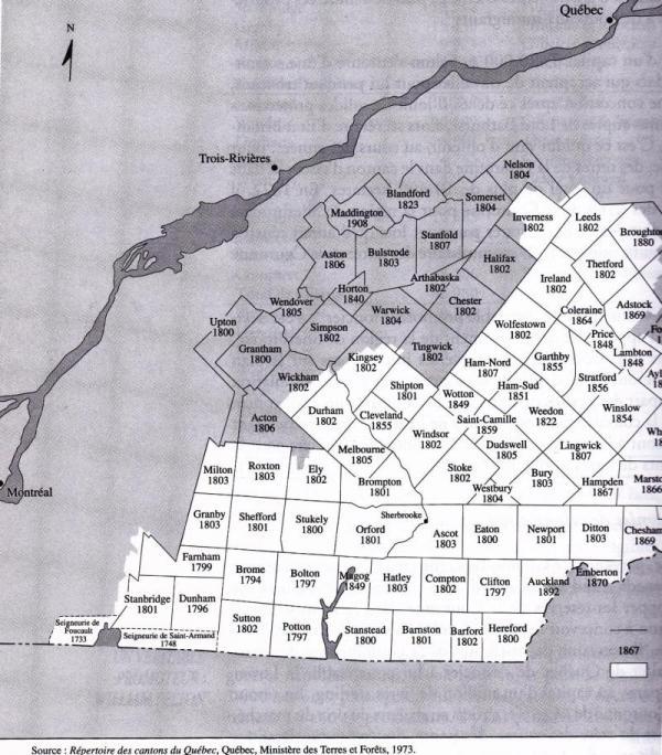 Carte Compton 1867
