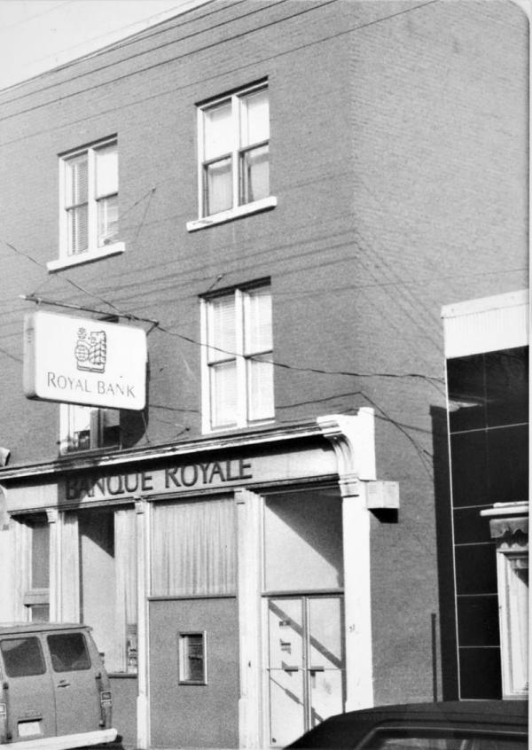 Banque Royale sur la rue Main